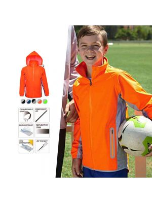 Bocini Kids Reflective Wet Weather Jacket