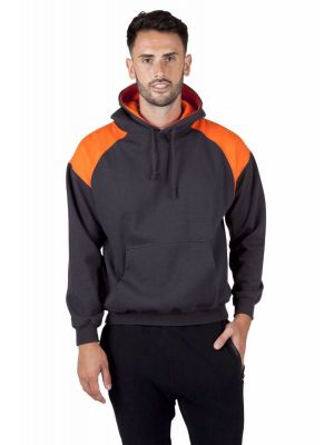 Ramo Mens Shoulder Contrast Panel Hoodie