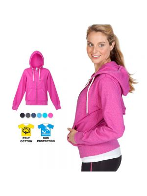 Ramo Ladies/Junior Greatness Heather Zip Hoodie