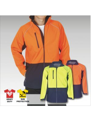 Blue Whale Hi Vis Soft Shell Jacket Day Use Only