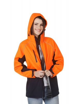 Blue Whale Hooded Hi Vis Soft Shell Jacket Day Use