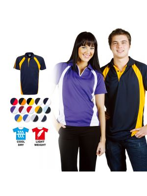 Blue Whale Coolfast Mini-Waffle Polo Adults
