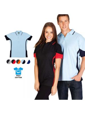 Ramo Mens Poly Cotton Contrast Polo