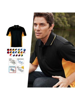 Bocini Men's Breezeway Panel Polo