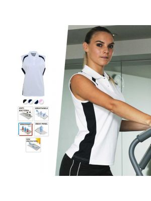 Bocini Ladies Sleeveless Contrast Polo