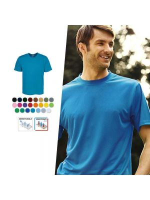 Bocini Adults Plain Breezeway Micromesh Tee Shirt