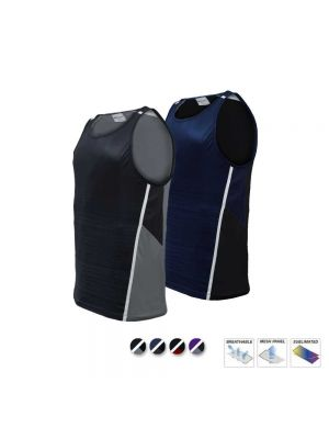 Bocini Unisex Adults Sublimated Panel Singlets