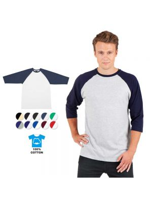 Ramo Mens 3/4 Raglan Sleeve T- Shirt