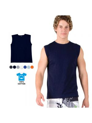 Ramo Mens 100% Cotton Muscle Tee