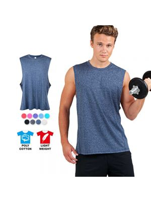 Ramo Mens Heather Sleeveless Tee - Greatness Range