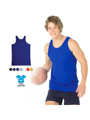 Ramo Mens 100% Cotton Singlet