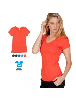 Ramo Ladies Marl V-Neck T-Shirt