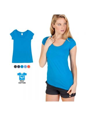 Ramo Ladies Marl Scoop Neck T-Shirt