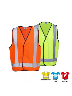 Blue Whale Hi Vis Safety Vest X-Pattern D/N