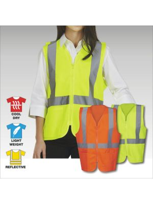 Blue Whale Day & Night Hi Vis Vest with Zip & Pockets